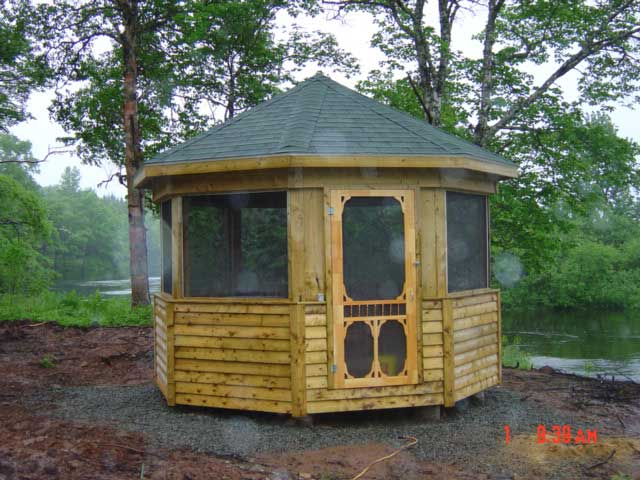 Screened-in Gazebo